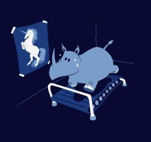 Hipopotamo entrenando